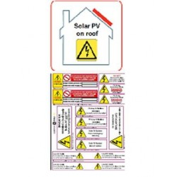 PV on Roof and Hazard Labels Pack