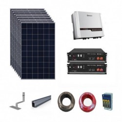 Goodwe Hybrid Solar Kit 6.12kWp array/5.84kWh storage/4.6kW max output