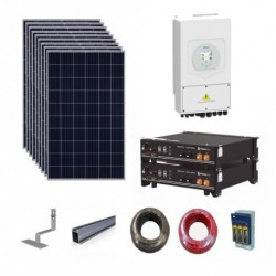 Sunsynk Hybrid Solar Kit 6.12kWp array/5.84kWh storage/5kW output