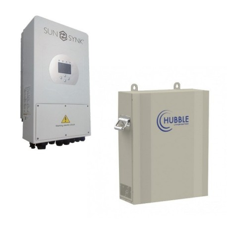 Sunsynk 5kw inverter - Hubble Li-ion 5kWh Package (Solar Ready)