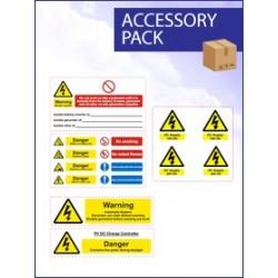 Battery Hazard Label Pack