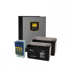 3kVA Battery Backup Kit (2 x 12V 100Ah)