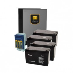 3kVA Battery Backup Kit (4 x 12V 100Ah)